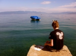 At lake Ohrid, Macedonia